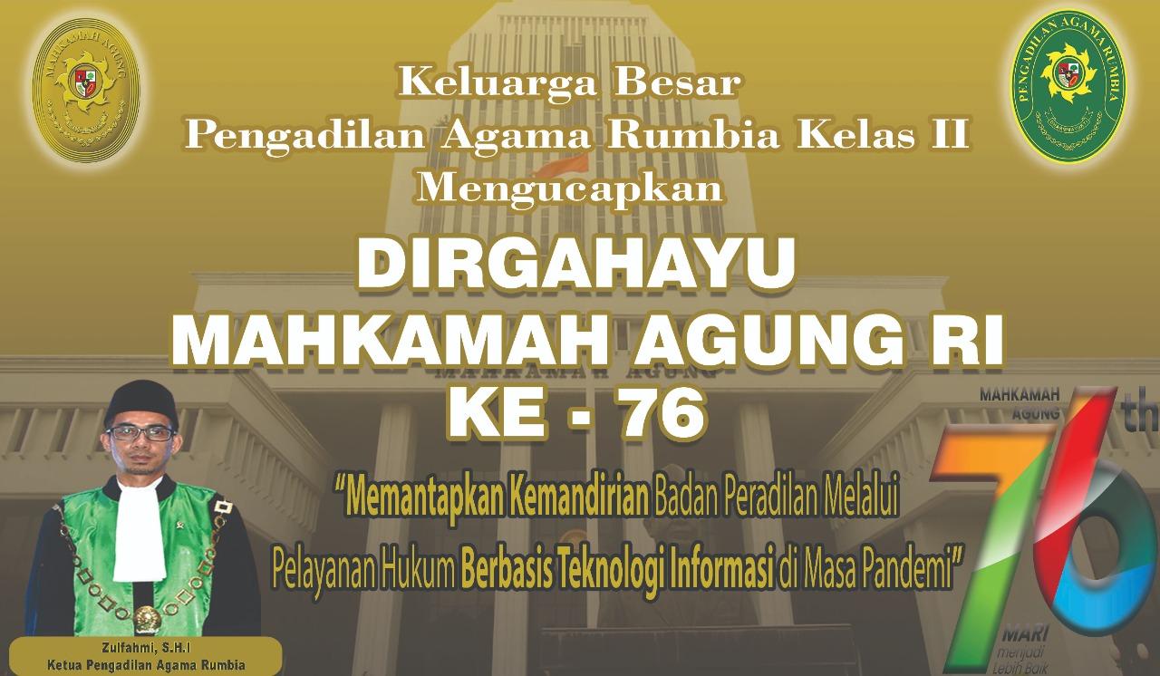 Dirghayu Mahkamah Agung RI Ke-76